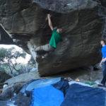 Nalle Hukkataival climbing in the Grampians of Australia