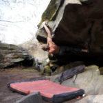 Appréhension 7C+, Bouldering in Fontainebleau
