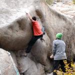 David Mason climbing Both Sides of the Spectrum in Moraine Park, V12